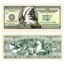 Wholesale Santa One Million Dollar Bills Stocking Stuffers..HOT SELLER