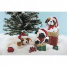 "Wholesale 75"" 3 ASSORTED LYING DOGS WITH XMAS HAT"