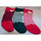 "NEW! Wholesale 22"" Knitted Stocking / Sock with Tassel Assortment"