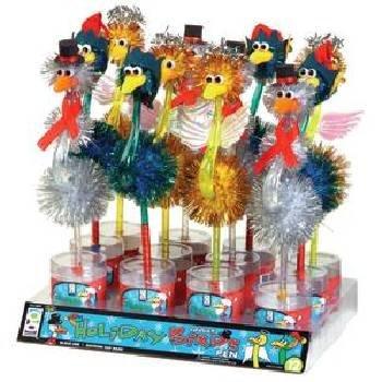 Wholesale Holiday Odd Ball Bird Pens