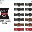 Wholesale Ladies Stretch Patent Belts