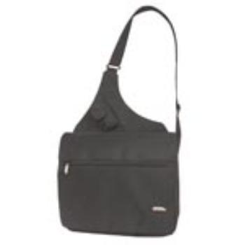 Wholesale Travelon Messenger Microfiber Bag - Black