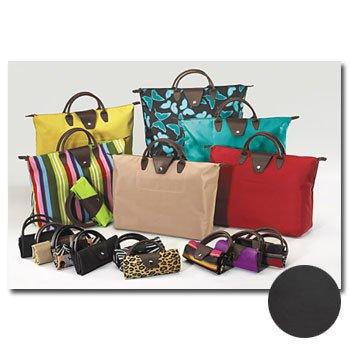 Wholesale Short Handled Tote Bag Black w/ Black Handle 18 P