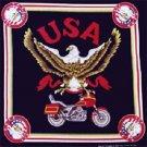 Wholesale USA Motorcycle Bandanas - Dozen Packed 22x22
