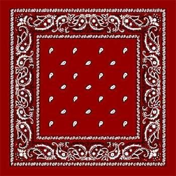 Wholesale Red Paisley Bandanas - Dozen Packed 22x22