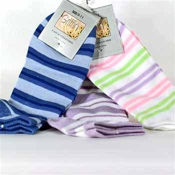 Wholesale Ladies 9-11 Ankle Sock - Assorted Colors/Design