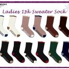 Wholesale Ladies 1Pk Sweater Sock