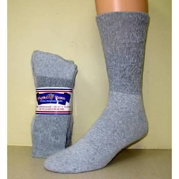 Wholesale Diabetic Crew Sock, Solid Gray