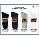 Wholesale 3Pk Men's Crew Sock. White