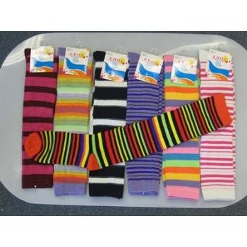 Wholesale Knee High Computer Striped Socks..HOT SELLER