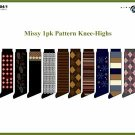 Wholesale Missy 1 Pk Patterned Knee High