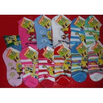 NEW! Wholesale Sponge Bob Ankle Socks