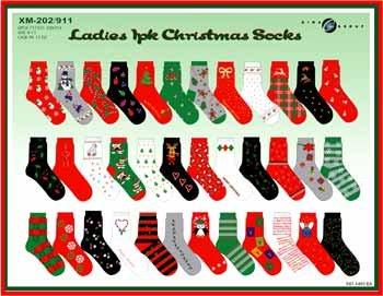Wholesale Ladies Christmas Socks