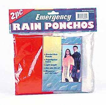 Wholesale 2-Piece Emergency Rain Ponchos