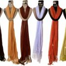 Wholesale Scarf Solid Colors Assorted