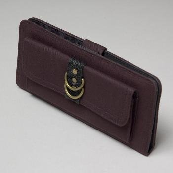 NEW! Wholesale Cargo Black Canvas Checkbook Wallet