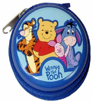 Wholesale Pooh Round Tin Coin Purse
