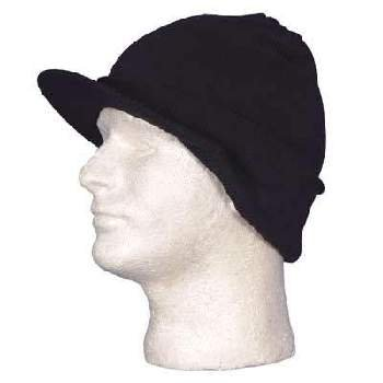 Wholesale Black Ski Hat Visor - Dozen Packed