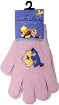 Wholesale Pooh Magic Gloves 4 Designs, 4 Colors Assorted.