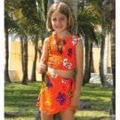 Wholesale Girls Rayon Bandeau Tank Top with Skirt SET