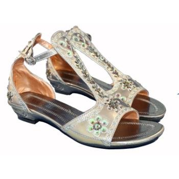 Wholesale Women's Sequined Gray Cleopatra Sandals