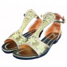 Wholesale Women's Sequined Green Cleopatra Sandals