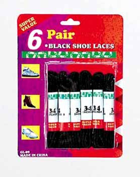 Wholesale Black Shoelaces