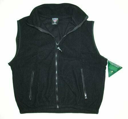 Wholesale Closeouts - Short Sleeve Black Fleece Vest