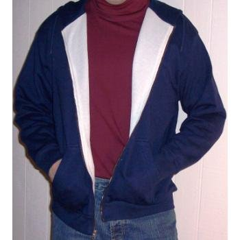 Wholesale Thermal Lined Fleece Hoodie / With Zip