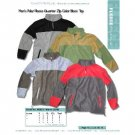 Wholesale mens polar fleece quater zip top