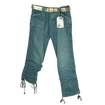 Wholesale CREST: Jr Plus Belted Denim Jean