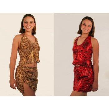Wholesale Fantasy Animal Print Halter Skirt Set