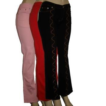 Wholesale Women's Cotton Long Pants In 4 Colors