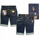 NEW! Wholesale Baby Phat Ladies Denim Bermuda Shorts
