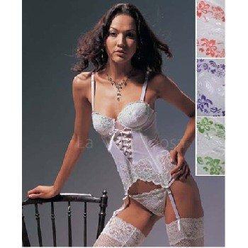 "Wholesale ""La Mariposa"" Lace & Ribbon Bustier Set"