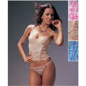 "Wholesale La Mariposa"" Sequin Lace Bustier Sets"