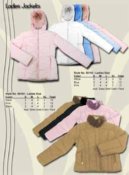 Wholesale Ladies Fashion Winter Jacket