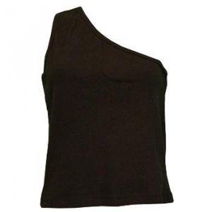 Wholesale Black One Shoulder Tee