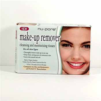 Wholesale Nu-Pore Make Up Removing Tissues