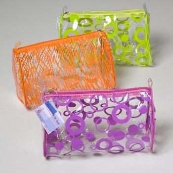 NEW! Wholesale PVC Cosmetic Bag - Barrel Shaped