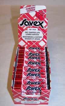 Wholesale Savex- .15 Oz Cherry Lip Balm Display