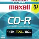 Wholesale Maxell 48x Write-Once Recordable CDs for Data