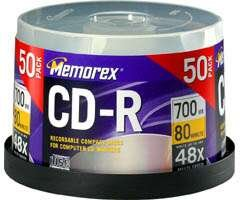Wholesale Closeouts - Memorex 80 Minute Recordable CD-Rs