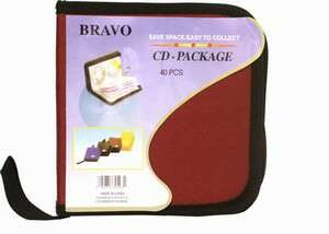 Wholesale Cd Holder 40Cds. Assorted Colors