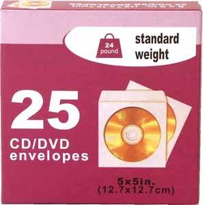 Wholesale DVD Envelope 25 Count