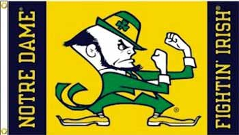 "Wholesale Notre Dame ""Leprechaun"" 3' x 5' Flag"