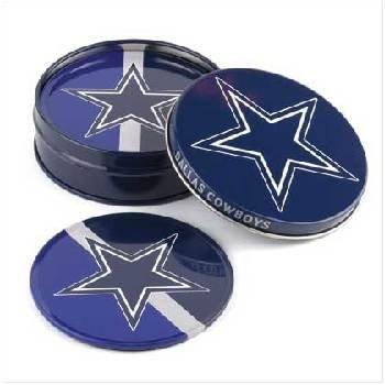 Wholesale Tin Coaster Set - Dallas Cowboys
