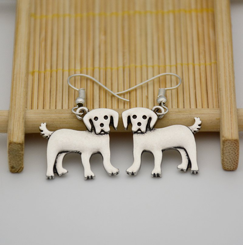 Puppy Dog Golden Retriever Drop Earrings Women Jewelry Dog Lover