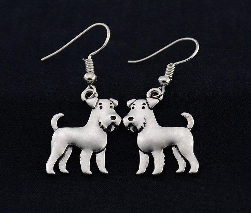 Puppy Dog Airedale Terrier Drop Earrings Women Jewelry Dog Lover