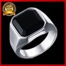 Square Men Rings Top Quality Titanium Steel size 7-12